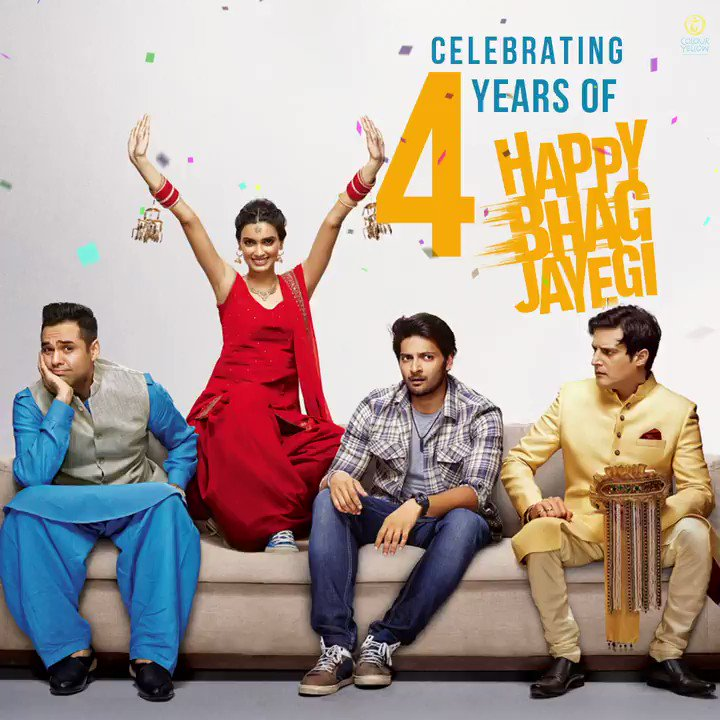 4 years, many memories and a million still chasing Happy! Celebrating 4 crazy years of this RUNCOM we all loved🏃🏻‍♀️ #4yearsofHappyBhagJayegi   @DianaPenty @AbhayDeol @alifazal9 @jimmysheirgill @aanandlrai @momalsheikh @mudassar_as_is @krishikalulla