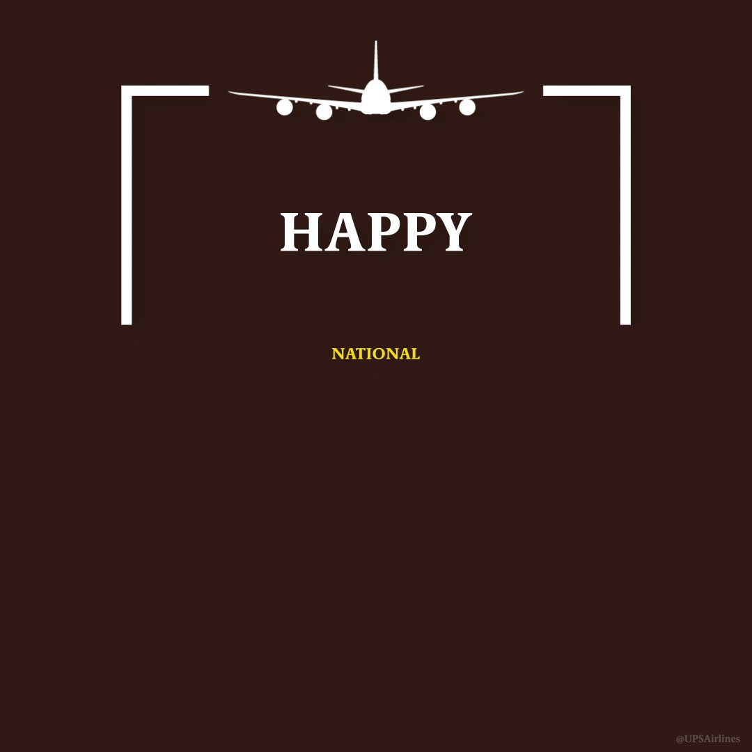 Today is #NationalAviationDay. Thank you to all of the @UPSAirlines aviation professionals who keep us flying! ✈️✈️✈️