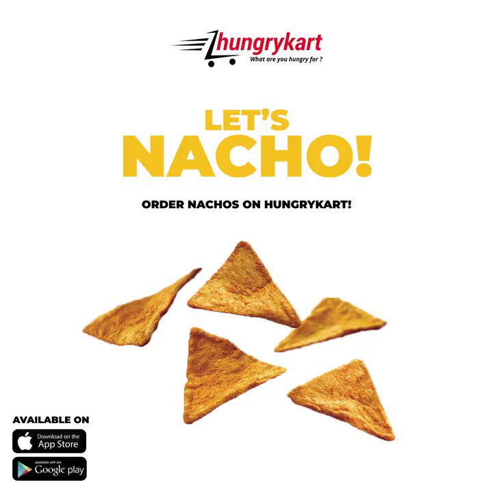 Nacho to the beat, show us how many you can eat.  #Hungrykartindia #Hungrykart #app #Ios #Android #Onlinedelivery #onlinegroceries #onlinefood #nachos #mexicanfood #cravings #tortillas #salsasauce #cheesdips #avocadodip #jalapeno #foodbloggerindia #letsnacho #India #Hyderabad