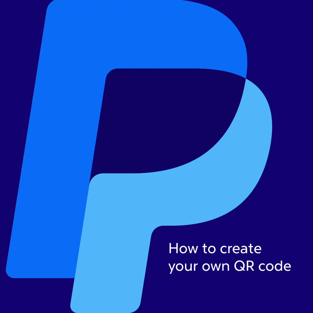 Image for the Tweet beginning: With PayPal QR codes, you