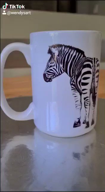 My art on a mug series continues with some wildlife ❤️. wendysart.co.za