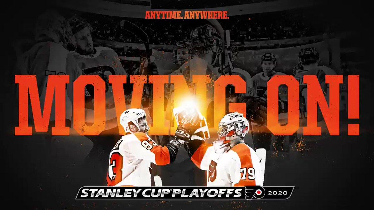 ✅Clasificados los @NHLFlyers para la 2°Ronda de los #NHLPlayoffs tras vencer en 1°Ronda a @Canadiens_VAVEL por 4-2 en su serie. #NHLesp #Flyers  #AnytimeAnywhere #StanleyCup #StanleyCupPlayoffs  #NHL