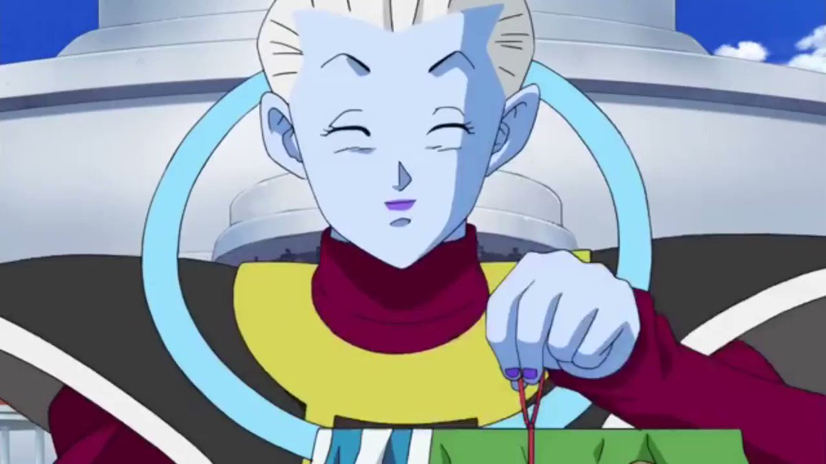 everyone gangsta till Whis change the tone of his voice