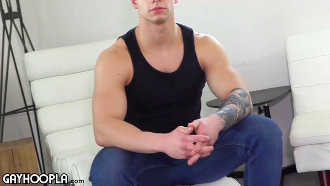 What an absolute hunk. DAMN that's one HOT man. Solid muscle, the strong, silent type. Matt wasn't sure
