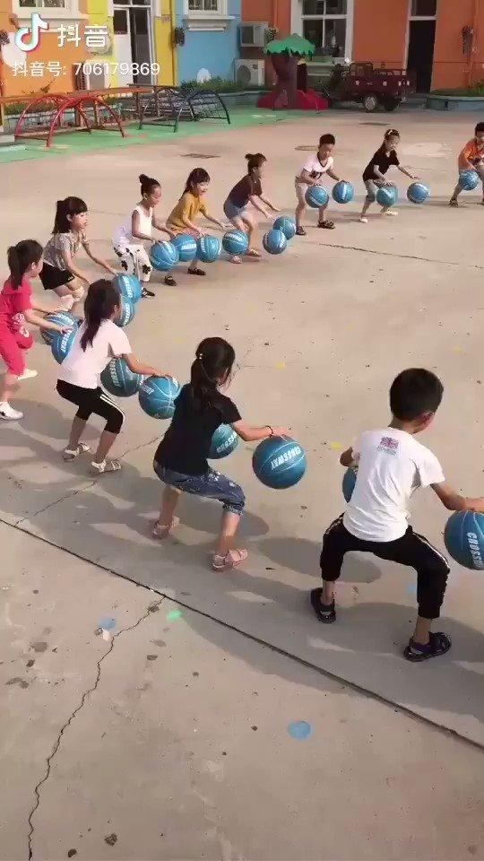 China's kindergarten game: Cooperation.