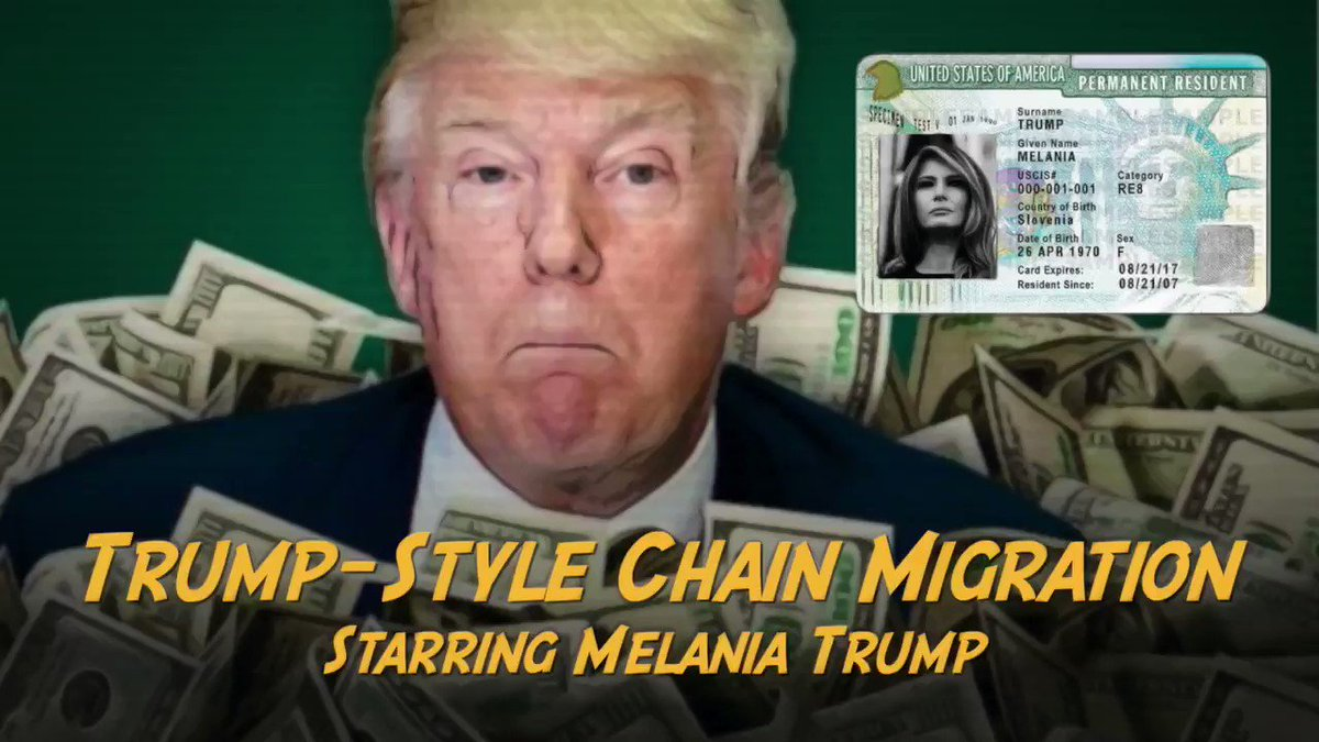 Melania Trump took advantage of the same policies her husband publicly opposed to benefit herself and her family. She also pushed racist birther conspiracy theories about President Obama. Never forget who she is. #MelaniaUsedChainMigration from @donwinslow https://t.co/Dn7QC9yEhf