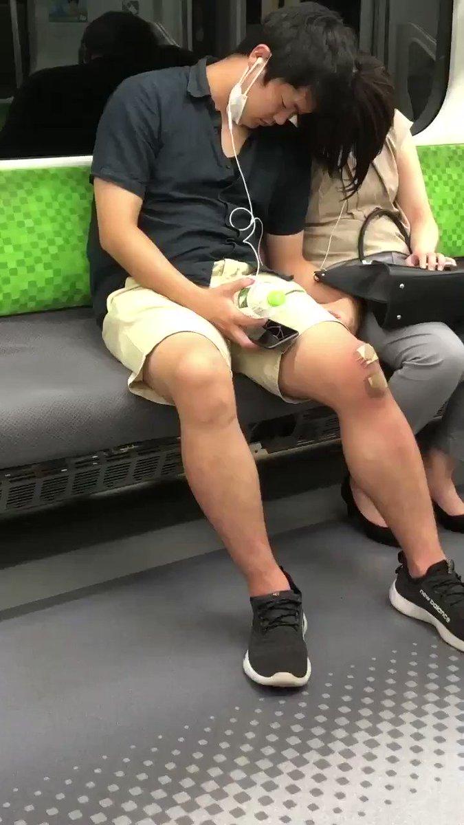 ワダイの男 - 席空いてるのに途中から近寄っていってカップルのフリしてずっと痴漢してたみたいだから酔ってたりして電車のる女性ほんと気を付けて…