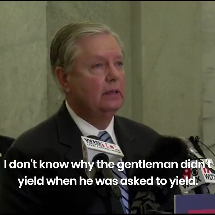 """.@LindseyGrahamSC on Jacob Blake being shot by police: """"I don't know why the gentleman didn't yield when he was asked to yield.""""  WALKING 👏🏾 AWAY 👏🏾 FROM 👏🏾 THE 👏🏾 POLICE 👏🏾IS 👏🏾 NOT 👏🏾 PUNISHABLE 👏🏾 BY 👏🏾 DEATH"""