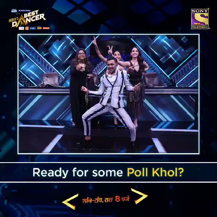 Some #PollKhol surprises 😋 entertainment 😍 and fun 😁 on the way with the gorgeous Nora Fatehi, this Sat-Sun at 8 pm in #IndiasBestDancer.   @terencehere @geetakapur #MalaikaArora @bharti_lalli @writerharsh https://t.co/uhctiV27Me
