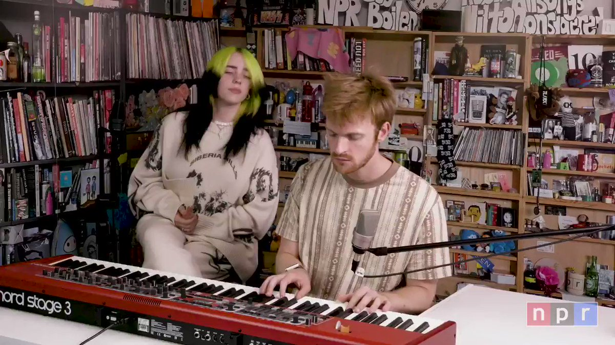 """Watch Billie's @nprmusic Tiny Desk concert from home featuring performances of """"my future"""" and """"everything i wanted"""". https://t.co/ytTC1t7kfS https://t.co/rJd8Sy59n8"""
