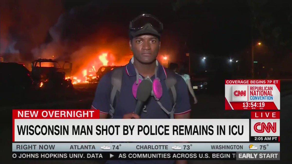 """CNN DESCRIBES """"MOSTLY PEACEFUL"""" RIOTS AS KENOSHA BURNS FHkcBiIX2wi3P5FX"""