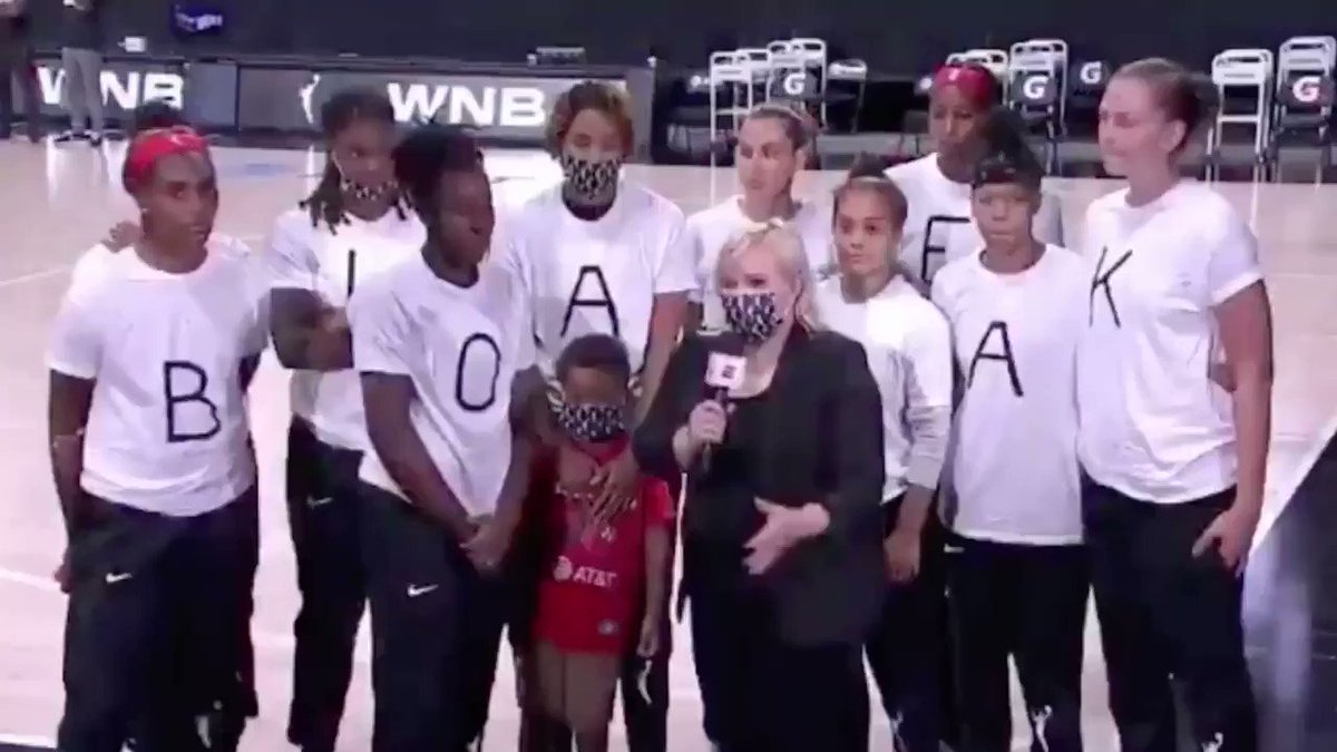 The @WNBA demonstrates again and again the type of leadership we need in this world. Thank you ♥️