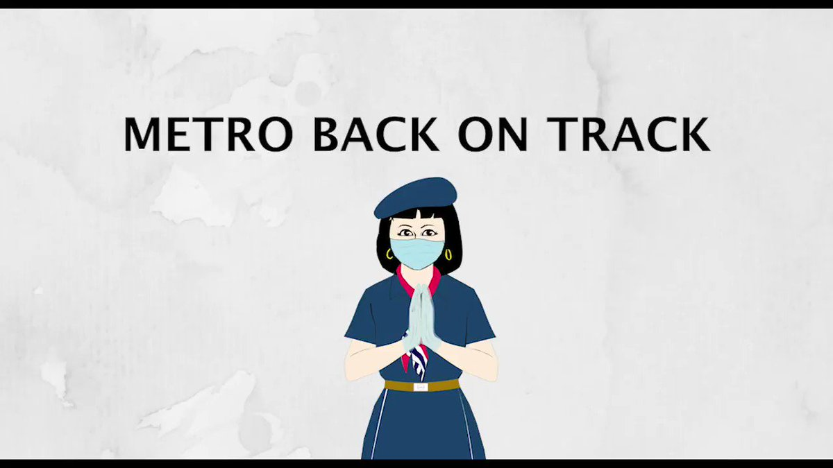 Replying to @OfficialDMRC: Coming to stations near you on 7th September. #MetroBackOnTrack
