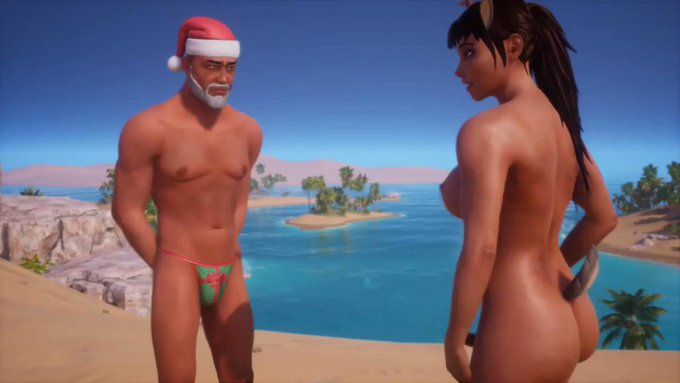 Now showing on PornHub 🎬 Santa Meets Rudie the Futanari Reindeer! ❤️💋😍 (free, HD, uncensored)  https://t