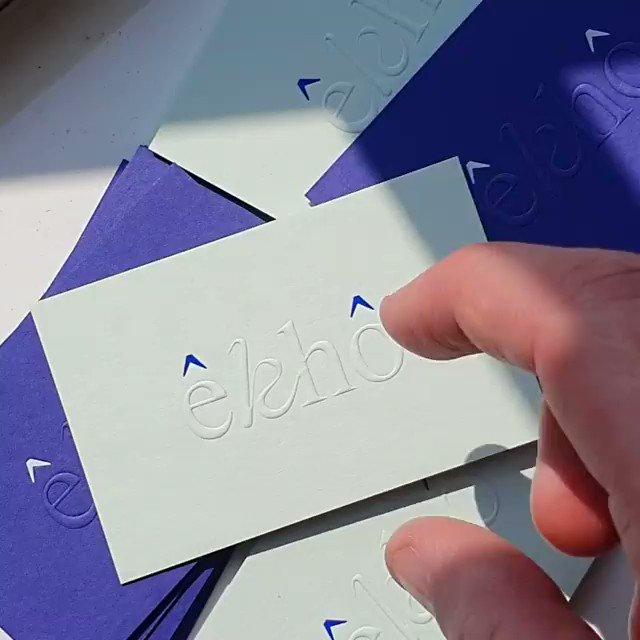 Image for the Tweet beginning: êkhô studios' blind embossed business