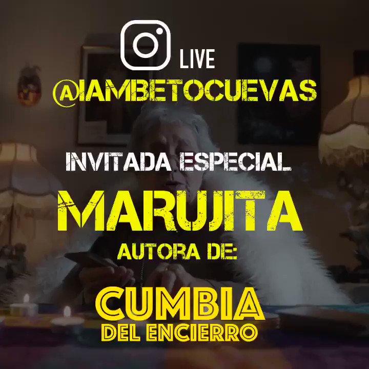 Llega a este #MartesDeEntrevistasConBeto la sensación del momento... 💥 ¡Marujita! 💥 Autora de #CumbiaDelEncierro 🎶 #BetoCuevas #IGLive #EnVivo 👉🏼 https://t.co/t5rlto38qO https://t.co/F7zrmLADud