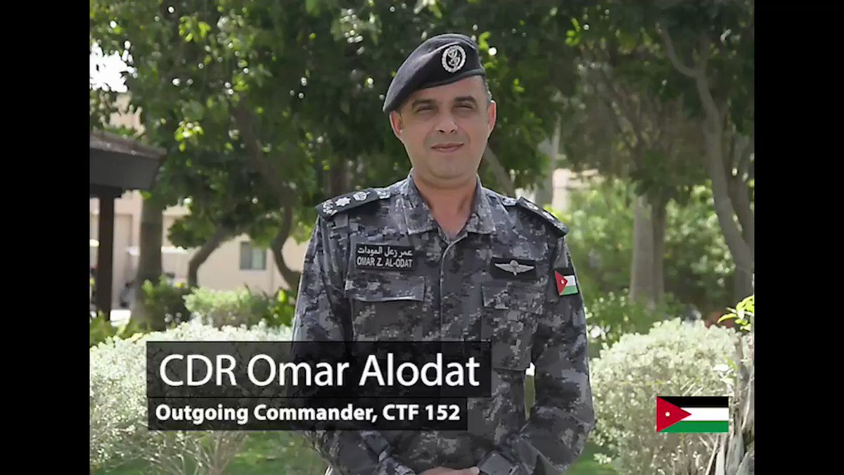 After six months at the helm of Combined Task Force 152, CDR Omar Alodat of the Royal Jordanian Naval Force, bids farewell to CMF as he prepares to hand over the reins to the Saudi Border Guard. 🇯🇴🤝🇸🇦 #ReadyTogether #ChangeofCommand