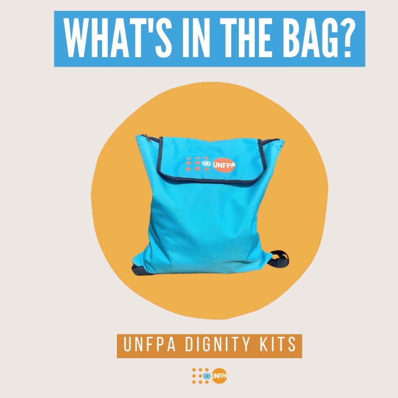 #DidYouKnow: @UNFPA reached more than 7 million women and girls with dignity kits in 59 countries in 2019?   🎒⤵️ Take a look inside the bag and learn more about our life-saving work: https://t.co/8bRJfJvgaB  https://t.co/C0x2nIpJBV