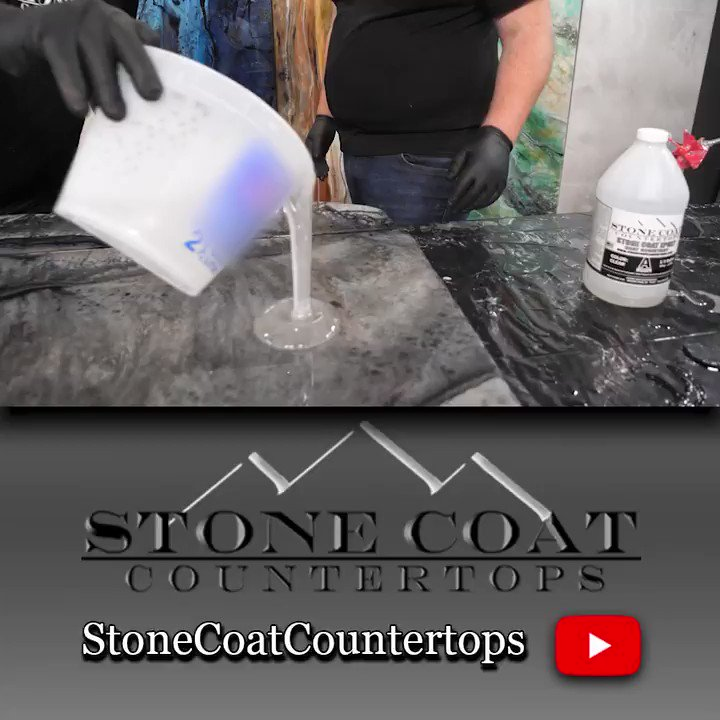CLEAREST EPOXY EVER. You're going to learn all the inside details THAT YOU DON'T WANT TO MISS on how to get the most glass like clear coat you've EVER seen, stay tuned!!! More FREE Training👇   #StoneCoatCountertops #Epoxy #stonecoatepoxy