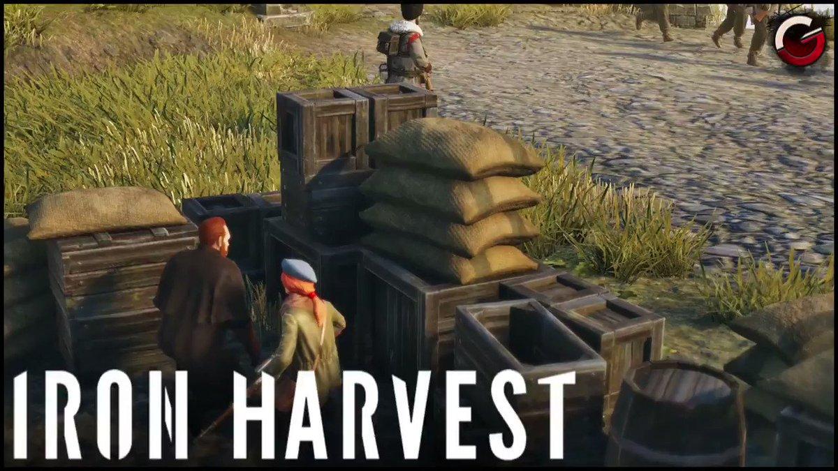 GrimyGamer - DEFENDING THE VILLAGE! Attacking the Rusviet Union!   Iron Harvest Gameplay