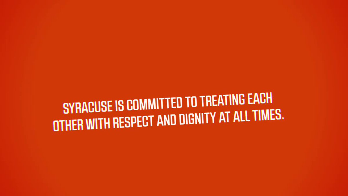 We come together. We support each other. We UNITE. The Orange and the ACC are committed to respect, dignity, and equality for all. ➡️ bit.ly/2Z61rT3