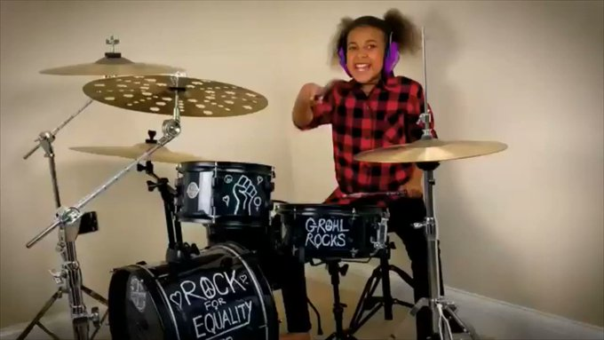 Happy birthday to Dave Grohl.  Maybe this is the year you can finally beat Nandi in a drum off