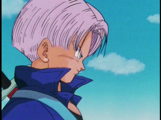 Future Trunks (トランクス) vs. Goku (悟空).