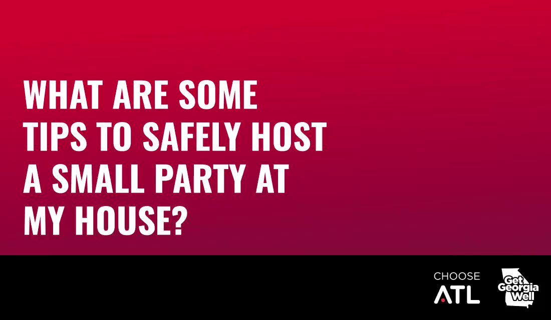 Dr. Erin Bradley, assistant professor of public health at @agnesscott, is back with Tips to Safely Host a Small Party at Your House this Labor Day Weekend. Set up chairs 6-ft apart and make sure guests have what they need without walking near other guests. @get_ga_well #MaskUpGA https://t.co/pu4ecvheD7