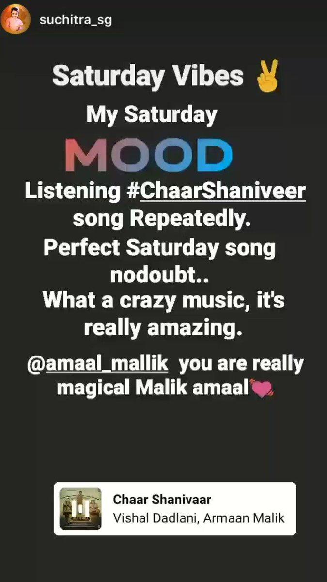 @AmaalMallik 's Instagram story!   🔥🕺💃🤯  #ChaarShanivaar #AmaalMallik #VishalDadlani #ArmaanMalik #ShabbirAhmed #Badshah
