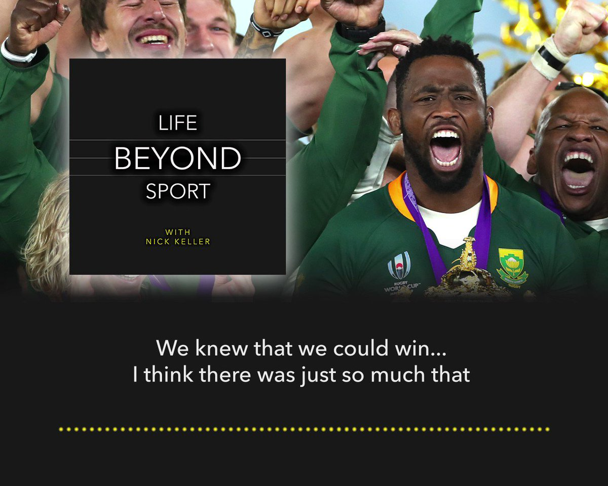 """""""We knew we could win. The struggle in England compared to 🇿🇦 is different. [I said] there is no way they could want this more than you do.""""  @SiyaKolisi_Bear discusses *that* final, and the importance of the #RWC2019 win to all of South Africa...  👉"""