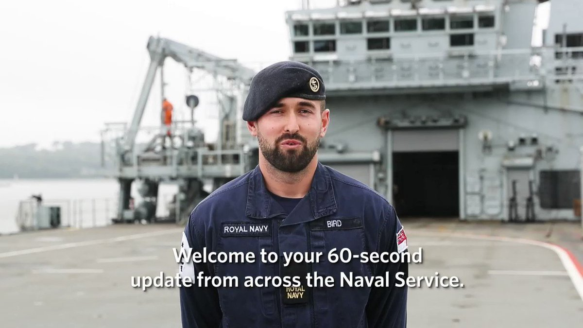 📽️ And now for the news. This week's update comes to you from @hms_albion and features headlines from @HMSTrent on @NATO operations and @40commando on #FutureCommandoForce training. There's also news on our minehunters. 📎Find out more here: ow.ly/K6X050BkNwn