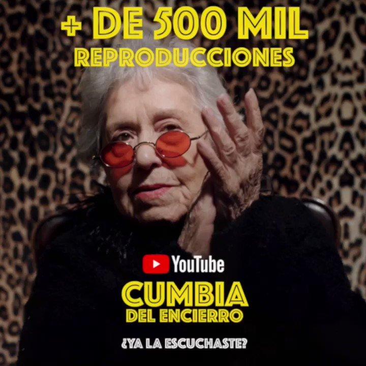🔥🔝¡Más de 500K reproducciones!🔝🔥 #CumbiaDelEncierro está poniendo a bailar a todos y cada vez estamos más cerca de cumplir el sueño de Marujita ¡Ayúdenos a compartirla con toda su familia y amigos! @LADecadentes #BetoCuevas #Viral 👉🏼 https://t.co/uDIpbavpPJ https://t.co/rEQco2IM4Z