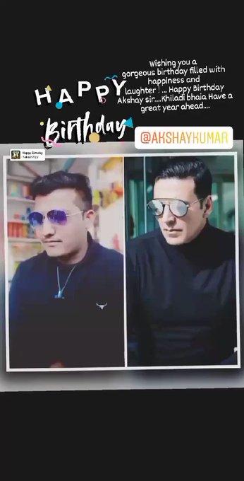 happy Birthday to you..khiladi bhaia akshay kumar sir ...