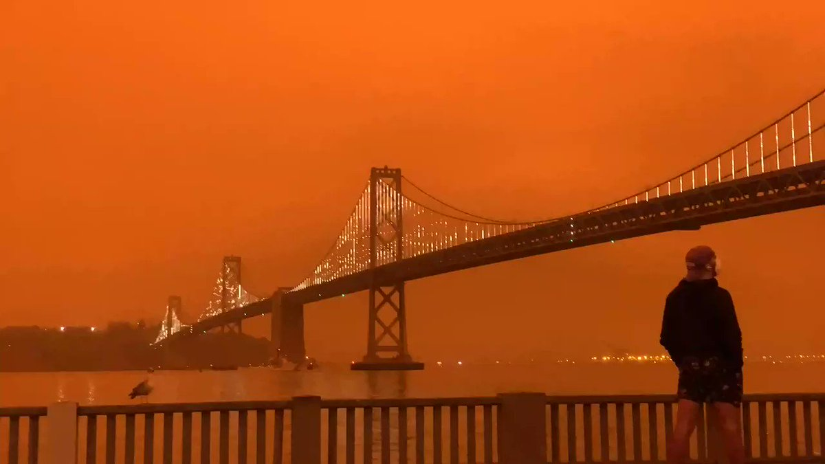 Have your own photos or videos of the hazy, orange sky from around the Bay Area this morning?  Share them in the comments below or tag us in your tweets!  🎥:@jachristian Read more: https://t.co/uXijBxrFHF https://t.co/64Ivzr2r5O