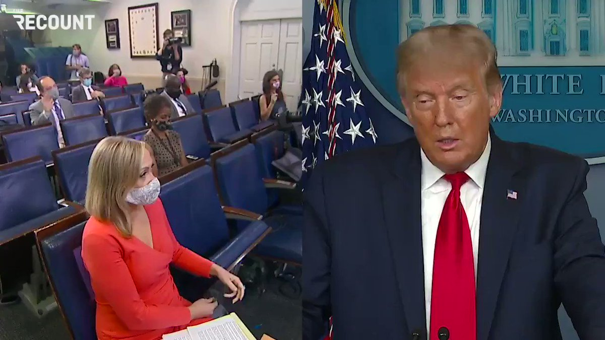 """""""Why did you lie to the American people and why should we trust what you have to say now?""""  - @jonkarl to Trump on actively downplaying the severity of the COVID pandemic in the early months which resulted in the deaths of nearly 200,000 Americans https://t.co/us8ufBl04o"""
