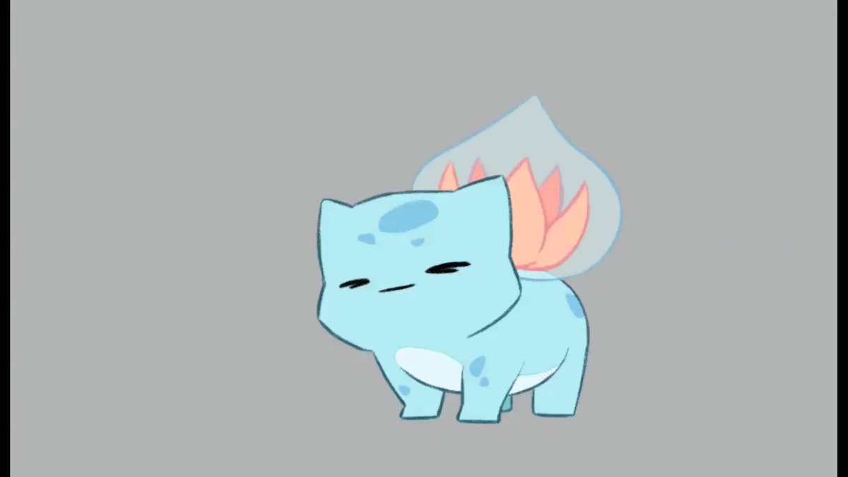 Couldnt resist animating this water bulbasaur, design from @charamells It is SO cute. Ive modified it a bit to suit my needs though. #2danimation #Pokemon #Bulbasaur