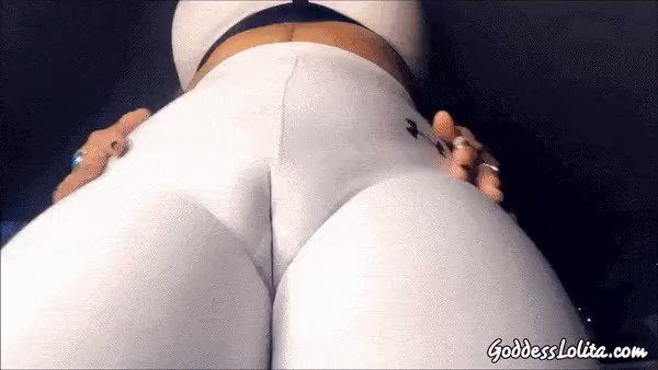 Wearing a hot white sports bra and exxxtra tight yoga pants. My hottest pussy tease to-date. You will be begging to eat My pussy after watching this. And I fucking love it when you beg. ; ) -@GODDESS_LOLITA_ ow.ly/5T3N50Blfcn