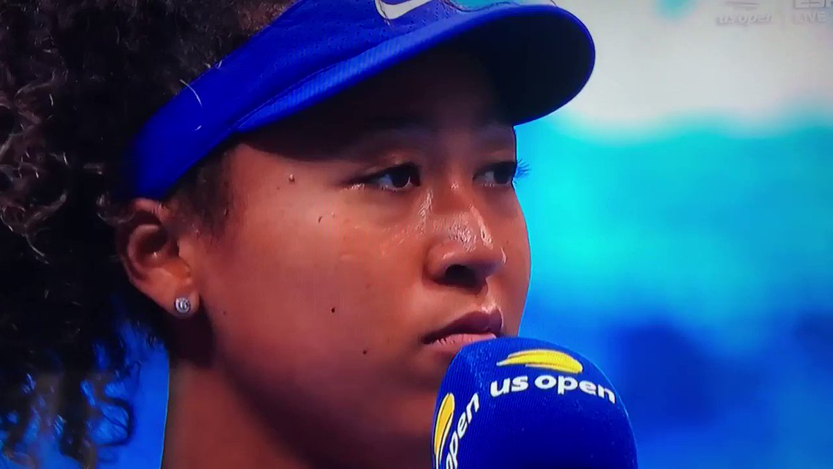 大坂なおみさん㊗️全米オープン優勝 インタビュアー「7回の試合で7枚のマスクを使いましたが、伝いたかったメッセージは何ですか?」大坂「あなたが受け取ったメッセージは何ですか?というのがより重要な質問です。社会が問題提起を始めることが意義であり目標です。」
