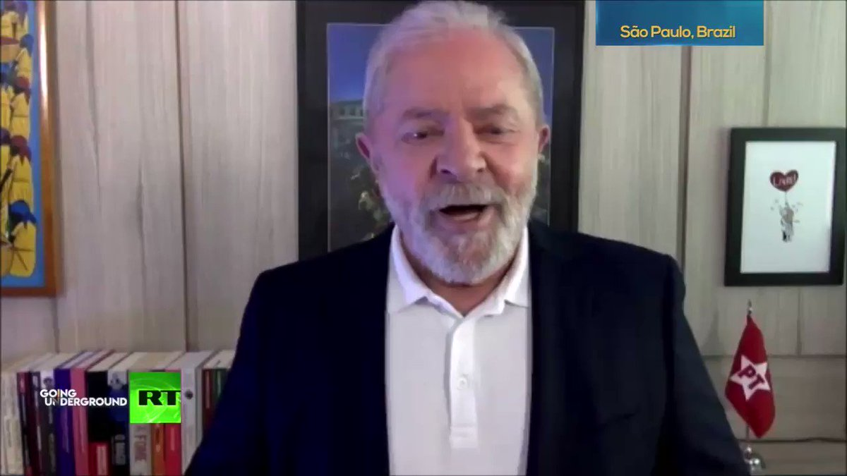 'An American citizen who wins election based on fake news like Trump has no moral authority to talk about democracy'  -Ex-President of Brazil🇧🇷 @LulaOficial on the US' attempts at regime change in Venezuela🇻🇪   WATCH HERE: https://t.co/eQvsZ3Paez https://t.co/BIG9Ek7VSo