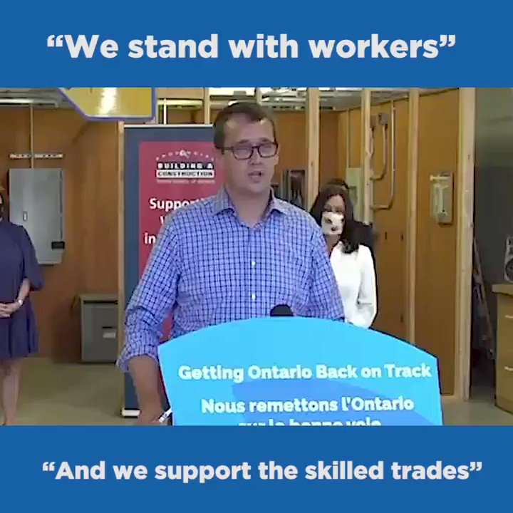 Our government is committed to working with labour. Together, weve been able to accomplish so much. 🚀Our collective mission: Get more people in the #SkilledTrades👷🏽