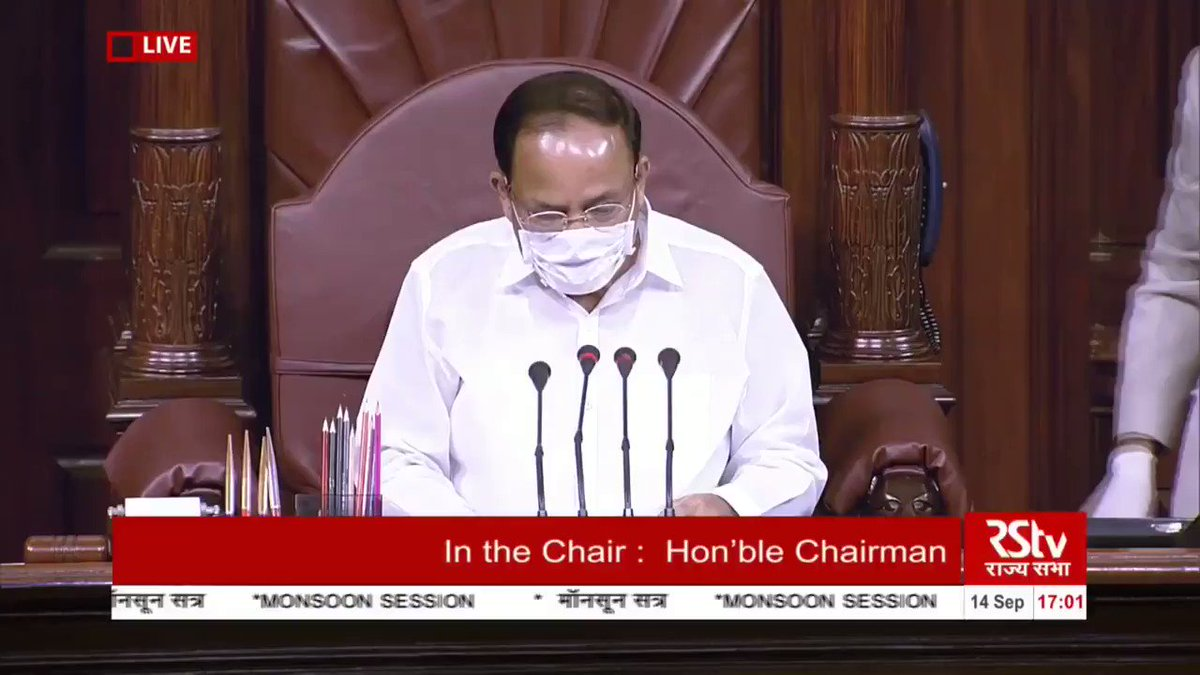 ** Goose Bumps! **  Team India's success at the @FIDE_chess #ChessOlympaid was shared and announced at the Monsoon Session of the Rajya Sabha in the Indian Parliament!  The names of all team members were also shared by Hon. Chairman @MVenkaiahNaidu   Video credits: @rajyasabhatv