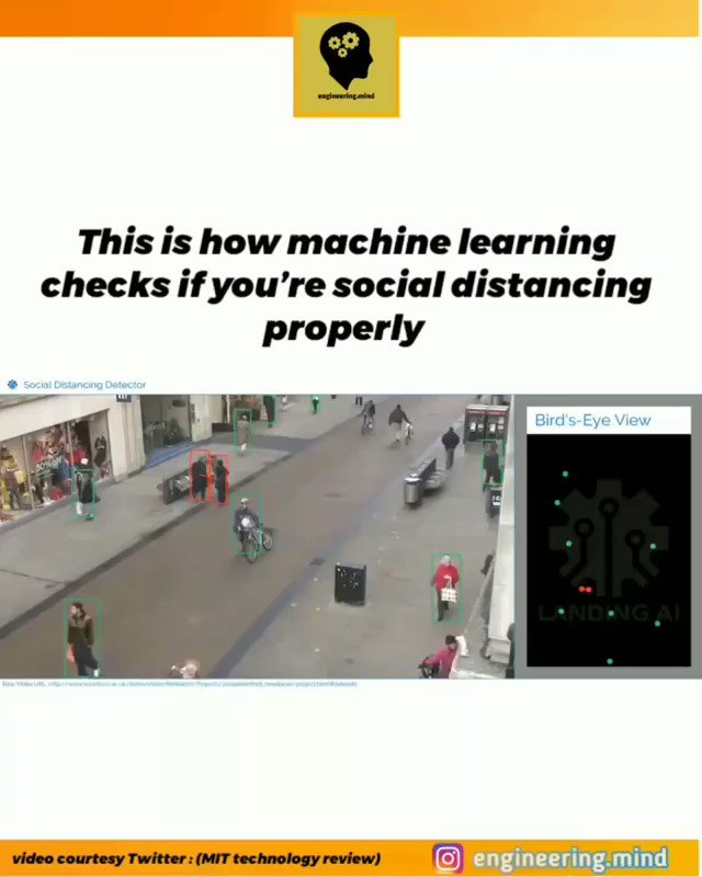 Checking for social distancing with machine learning . . . #PyTorch #Jupiter #python #100DaysOfCode #coding #100daysofmlcode #DataScience #MachineLearning #bootcamp #google https://t.co/3EhTvWXBx8