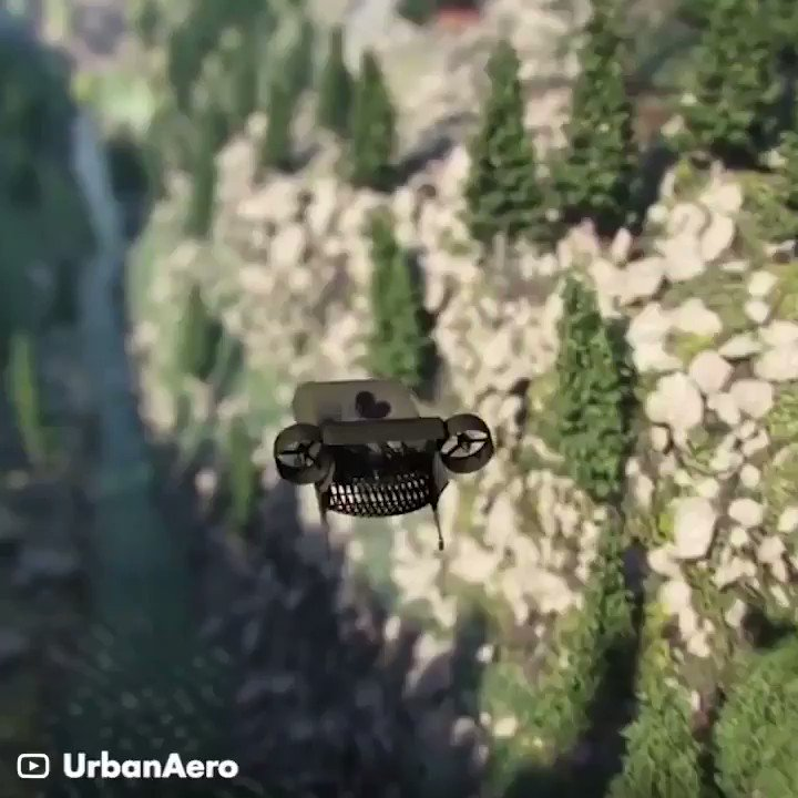 Image for the Tweet beginning: Flying car powered by hydrogen! #AI
