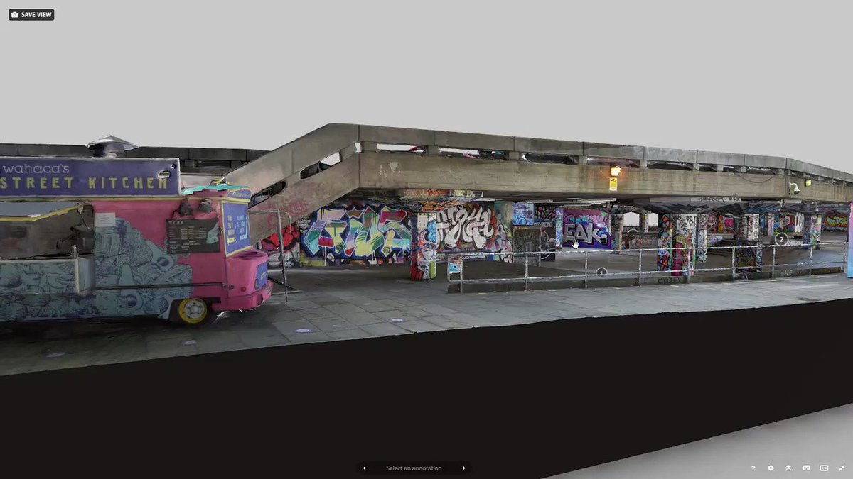 This is cool! I managed to do something I didn't think I'd get the chance to do - I 3D scanned the Southbank Skatepark.  See its glorious ramps and graffiti for the first time in 3D and VR:  https://t.co/axV1nHq6bu  #London #photogrammetry #skateboarding 🛹 https://t.co/vYla0IoUg5