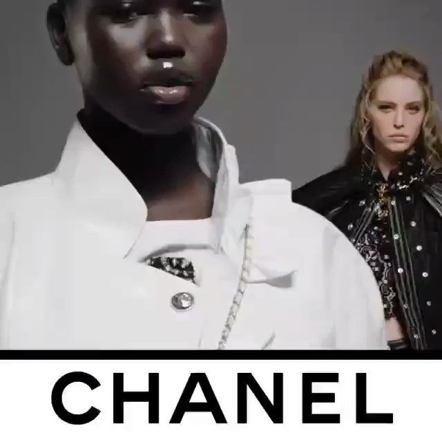 Loving @CHANEL ❤ Video recorded by Guillaume Delaperriere shows models Adut Akech and Abby Champion wearing the eternal modernity of the CHANEL allure that  infuses looks from the CHANEL Fall-Winter 2020/21 Ready-to-Wear collection. See the CHANEL collection @CHANEL. ❤💕💙💜 https://t.co/I9HP3MYirT