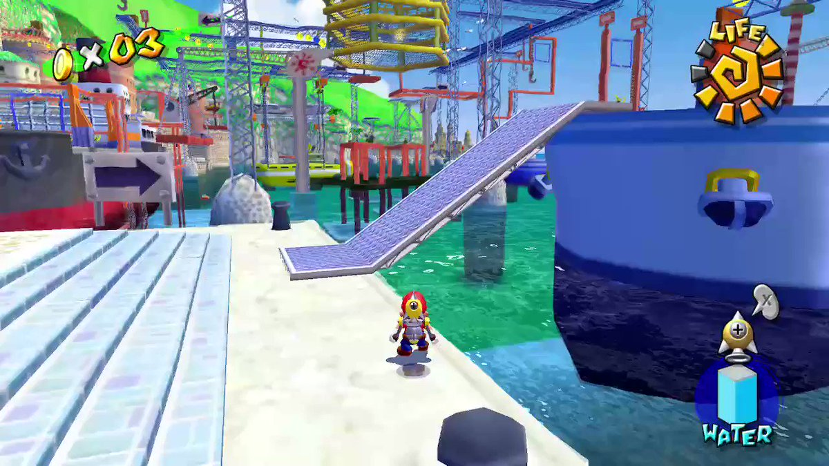 ロケット保存サンシャインは色々できそうですね。#SuperMario3DCollection #スーパーマリオ3Dコレクション #NintendoSwitch