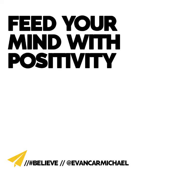 """If you're not constantly feeding your mind—I call that """"mind feed""""—with positive motivation, inspiration, something that moves you towards your goals—weeds grow. ______________________________________  #bestadvice #powerthoughts #growthmindset https://t.co/KdsNHnQcrw"""