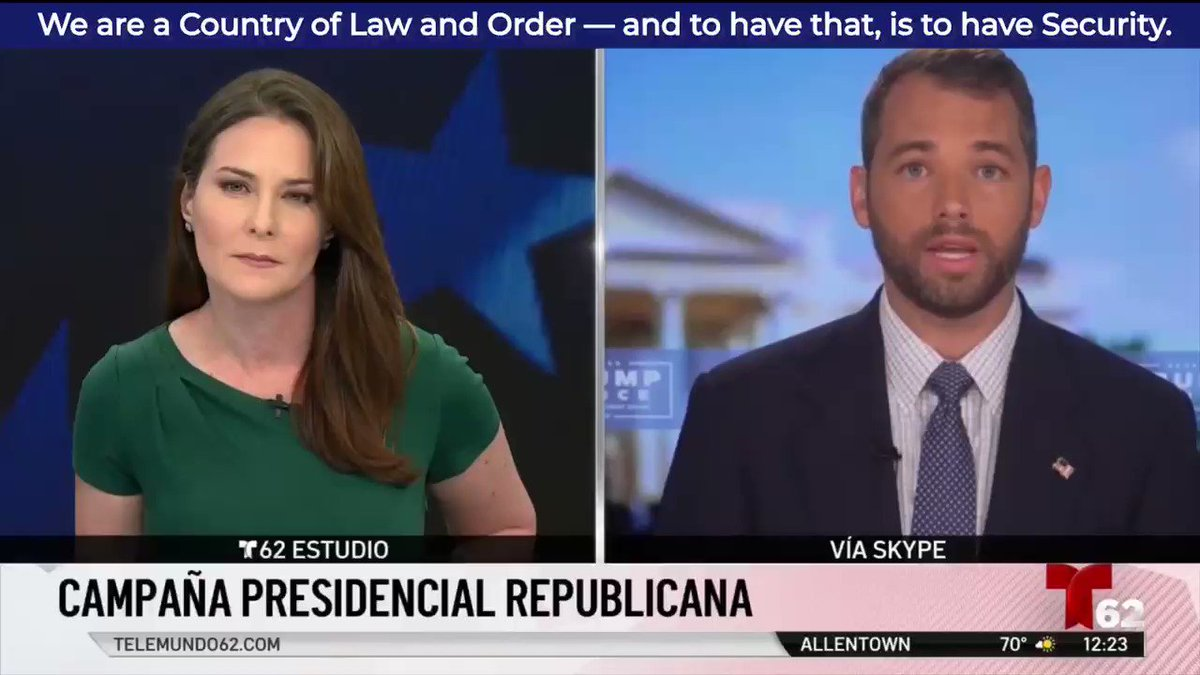 President Trump is standing up for Law & Order to protect the American Dream for All Americans. It's that simple—as I explain here in Spanish w/ @Telemundo62 of PA #Trump2020 🇺🇸