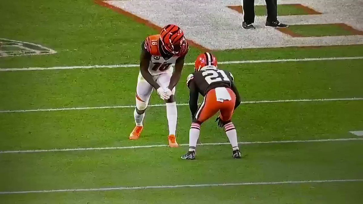 Replying to @I_Am_OD3: Love to see a guy win with his feet! #Bengalsvsbrowns