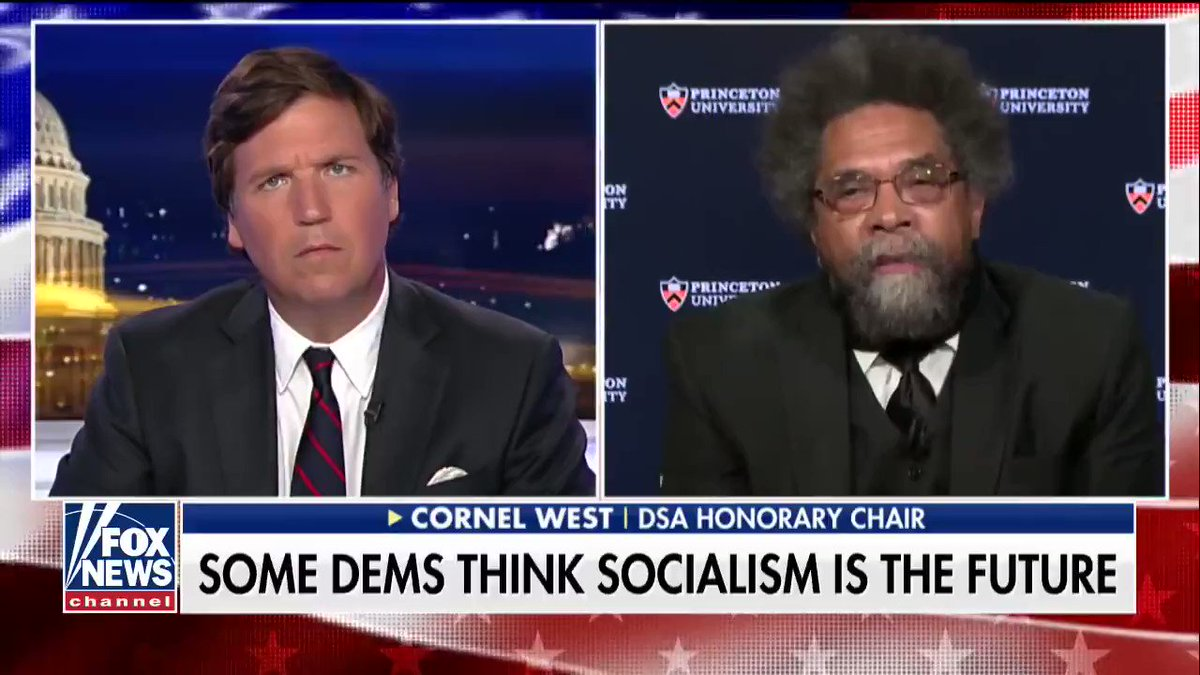 Tucker Carlson finally met Jesus, turns out it was Cornel West the entire time.